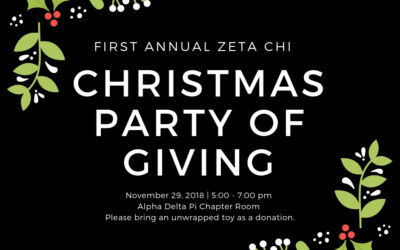 November 29, 2018- Christmas Party of Giving -CANCELLED